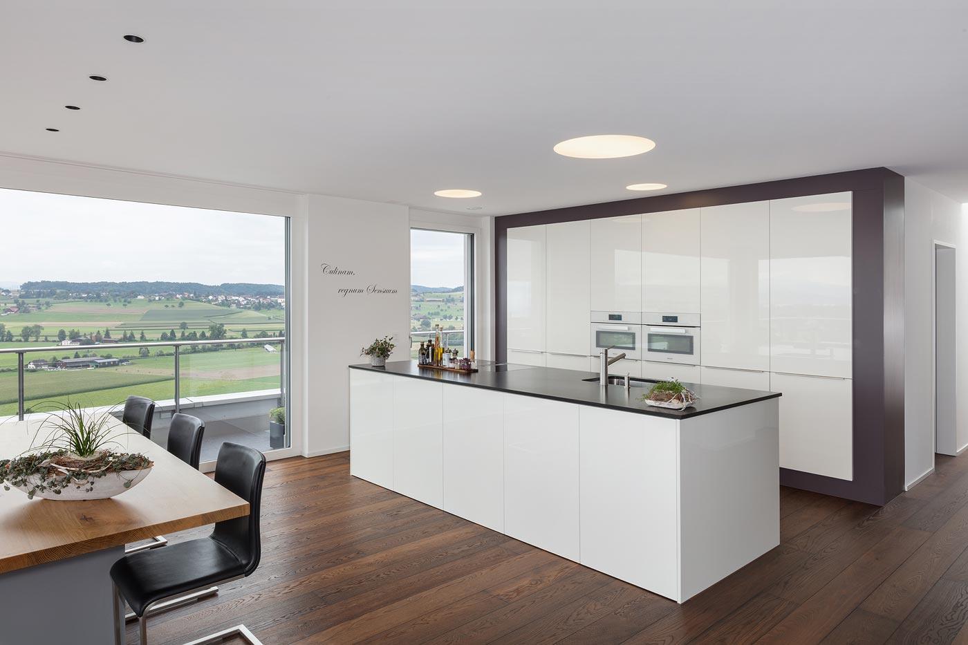 elegante, offene Küche
