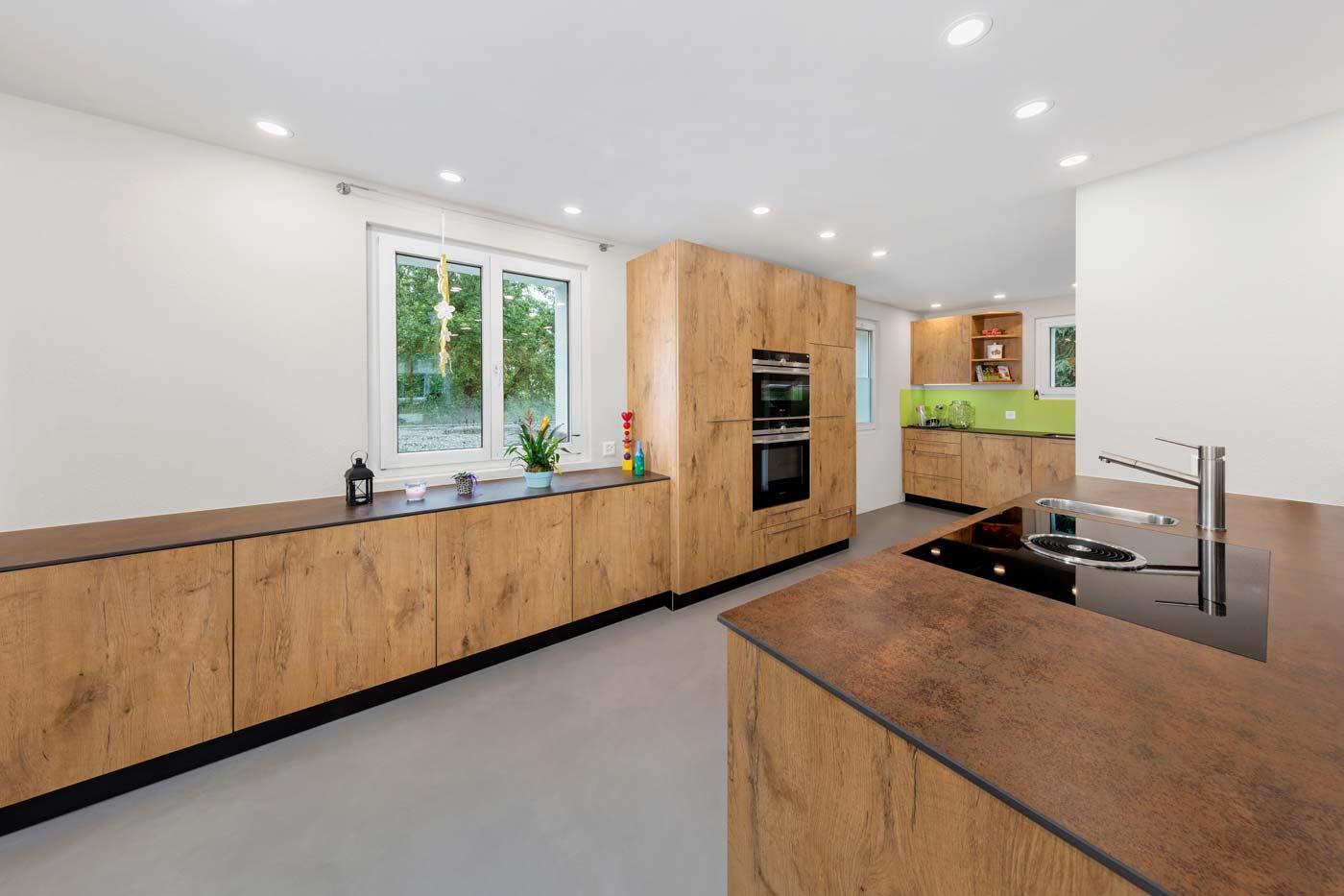 Eichenholz-Küche