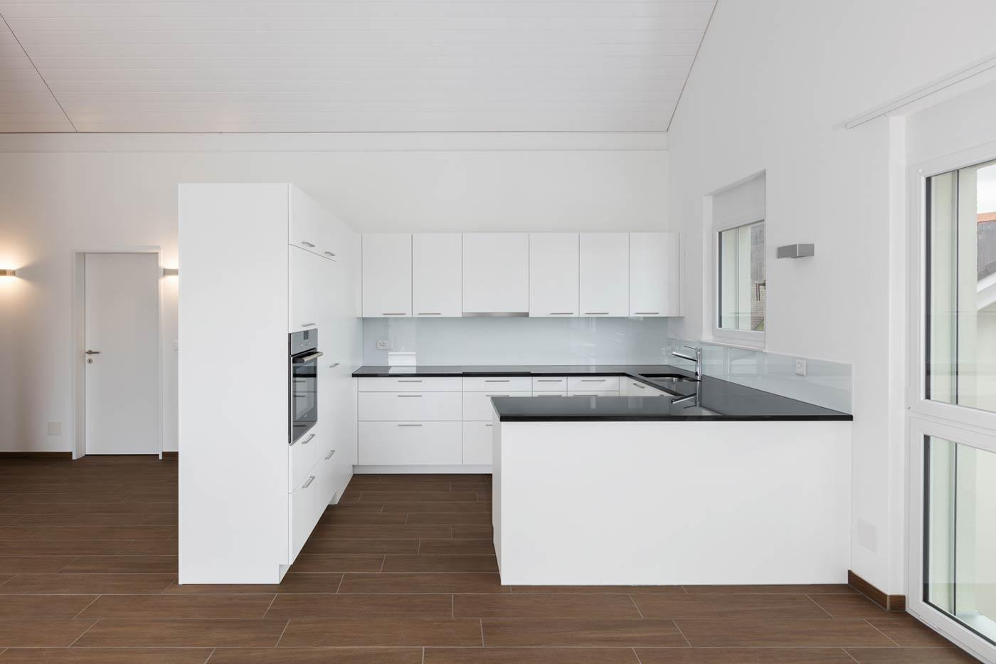 Quadratische Küche